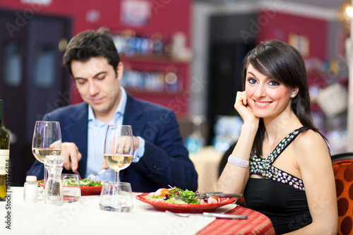 Couple having a dinner