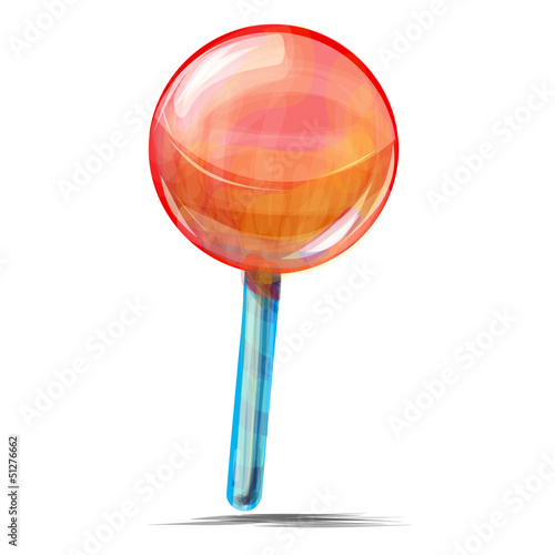 Delicious lolly pop isolated on white