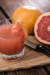 Portion of Grapefruit Juice
