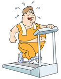 Fat man and  treadmill