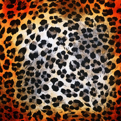 Colorful cheetah pattern