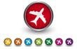 Buttonsammlung - Flugzeug - Flugreise