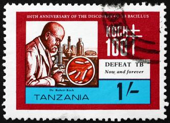 Postage stamp Tanzania 1982 Robert Koch