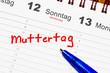 Muttertag im Kalender notiert
