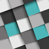 grey and turquoise square shadow background