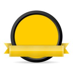 button mit banner gelb I