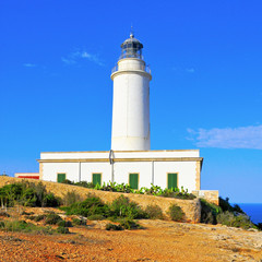 Far de la Mola in Formentera, Balearic Islands, Spain