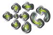 Green Metal Arrows