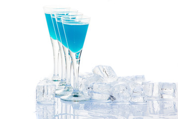 Blue cocktails