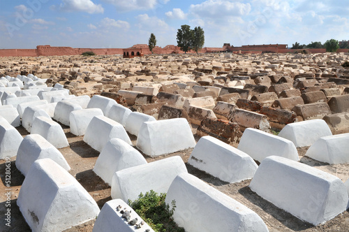 Jewish cemetery in Marrakech's medina (old town).Marrakesh, Moro