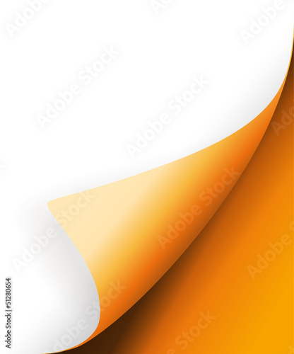 Orange Ecke vector