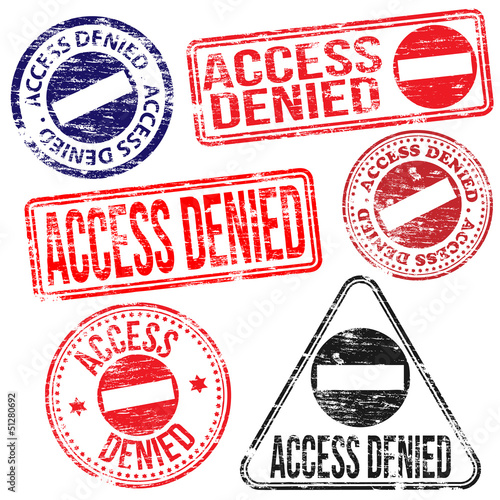 Access Denied Stamps