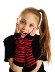 Portrait of a surprised punk rock girl