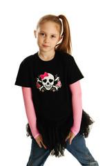 Portrait of a punk rock girl