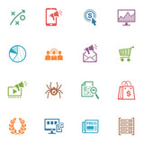 SEO & Internet Marketing Icons - Set 3 | Colored Series