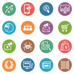 SEO & Internet Marketing Icons - Set 3 | Dot Series