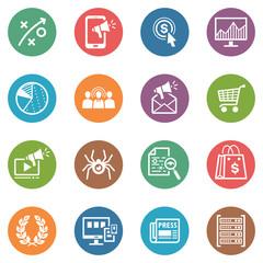 SEO & Internet Marketing Icons - Set 3 | Dot Series
