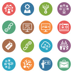 SEO & Internet Marketing Icons - Set 2 | Dot Series