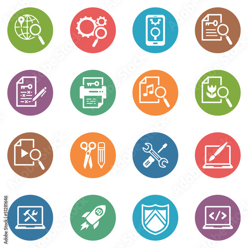 SEO & Internet Marketing Icons - Set 1 | Dot Series