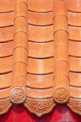 Orange Tile roof.