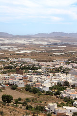 Typical Andalusian village in the south of Spain.