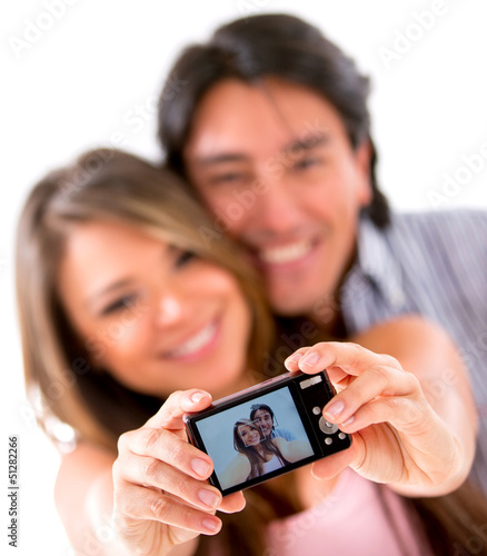 Happy couple taking a picture