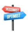 pessimist, optimist road sign