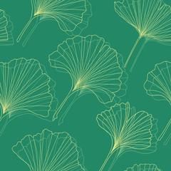 Ginkgo seamless pattern