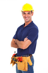 confident handyman arms crossed