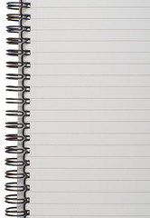 Lined Spiral Bound Notepad Page