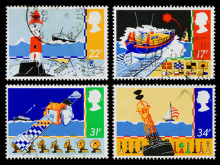 Britain Safety at Sea Postage Stamps