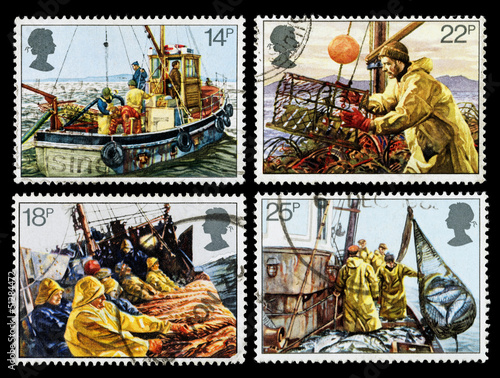 Britain Fishing Industry Postage Stamps