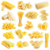 pasta collection isolated on white - 51284654