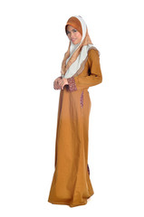 Muslim woman in modern clothes