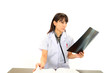 仕事中の女医