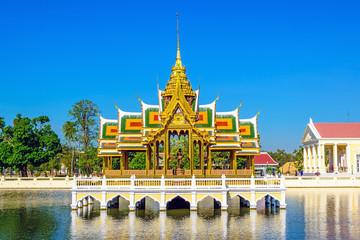 Aisawan Dhiphya-Asana Pavilion, Bang Pa-In Palace in Thailand.