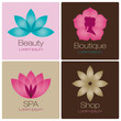 Flowers Logo For Spa And Beaut...