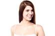 Attractive caucasian female model looking away
