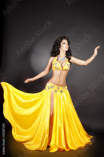 Theme interesting, Sexy arabian women during wild dance phrase, simply