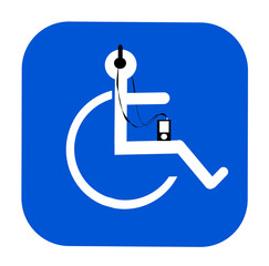 handicap symbol listening to music