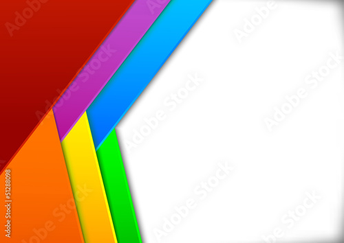 Colorful card with blank space - illusion