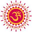 OM Mantra Symbol, Blumen, Aum, Buddhismus