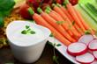 Gemüse mit Kräuterquark