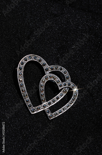 Silver and marcasite heart brooch © Arena Photo UK