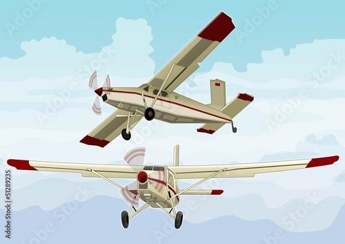 白色空气结构红色翅膀老式老的蓝色速度运输云彩显示飞机飞翔飞行see