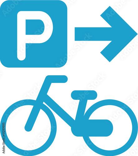 自転車置き場の案内のマーク