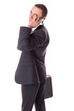 Businessman with mobilephone