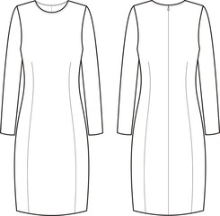 Vector illustration of elegant dresses