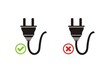 plugged and un-plugged icons
