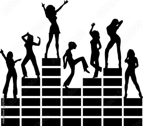 Equalizer, Musik, Disko, Tanzende Mädchen, Club
